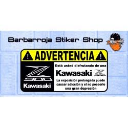 Pegatina advertencia kawasaki z 900 02