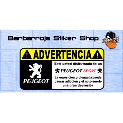 Pegatina advertencia peugeot sport 02