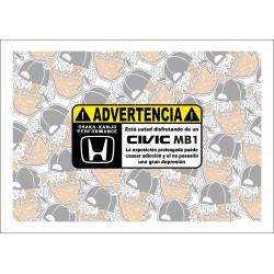 ADVERTENCIA CIVIC MB1